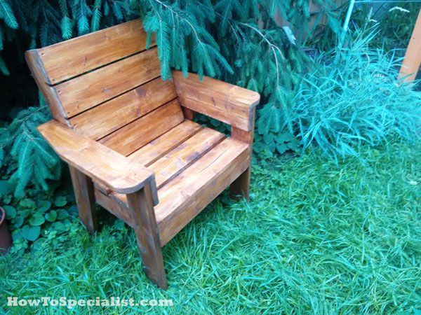 DIY Patio Chair HowToSpecialist - How to Build, Step by Step DIY