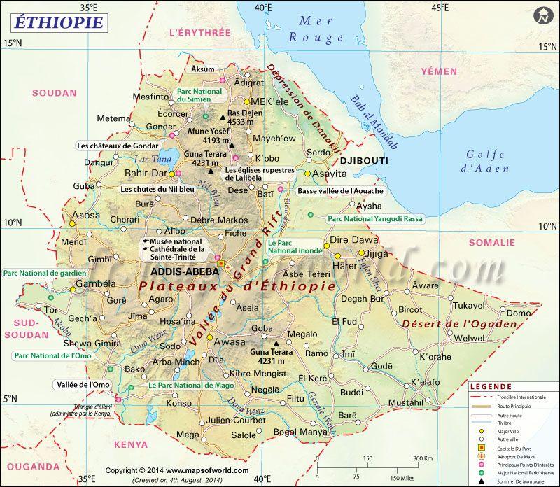 Ethiopie Carte | ciné | Pinterest | Éthiopie, Carte du monde et Cartes