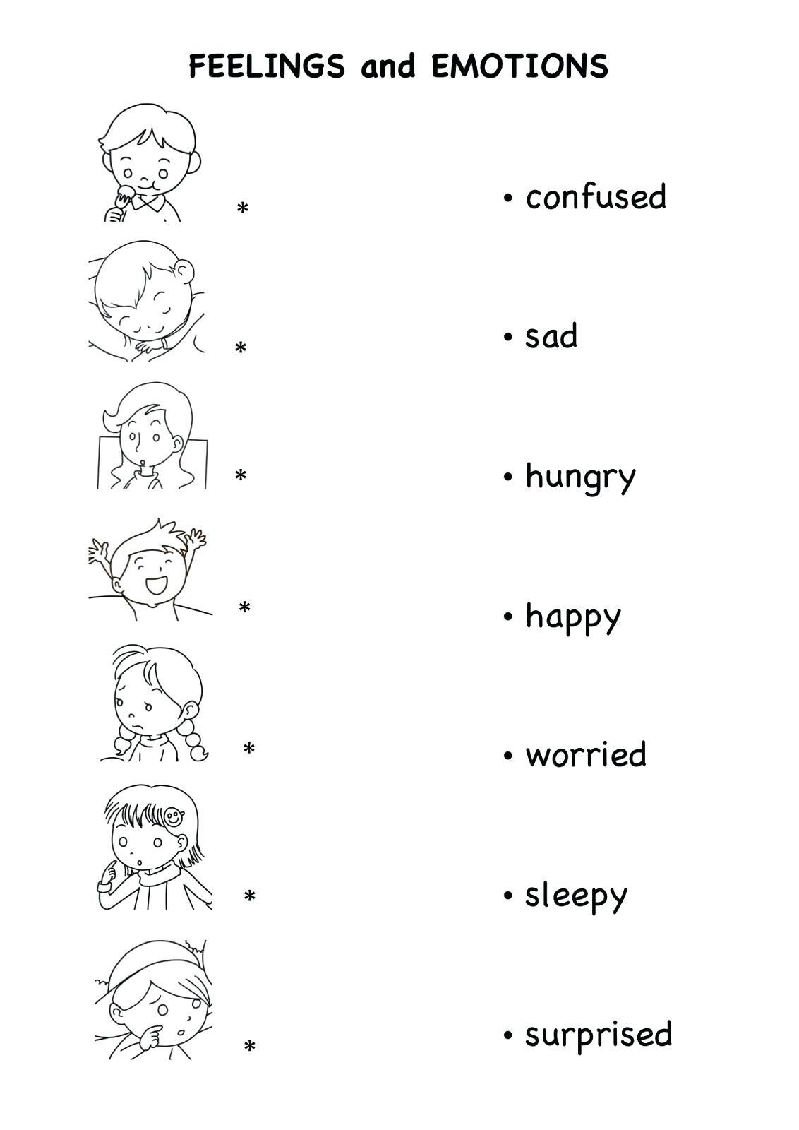 Feelings Worksheets For Kindergarten Preschool Worksheet