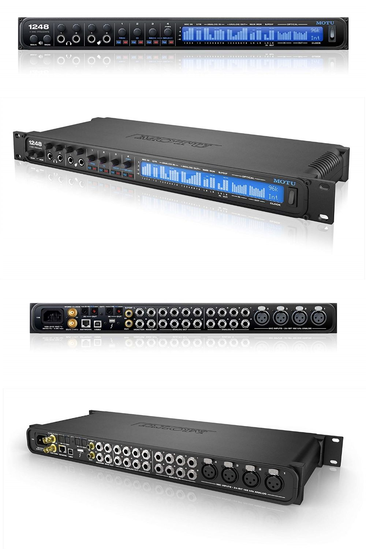 Motu 1248 32x34 Thunderbolt Usb 2 0 Audio Interface With Avb