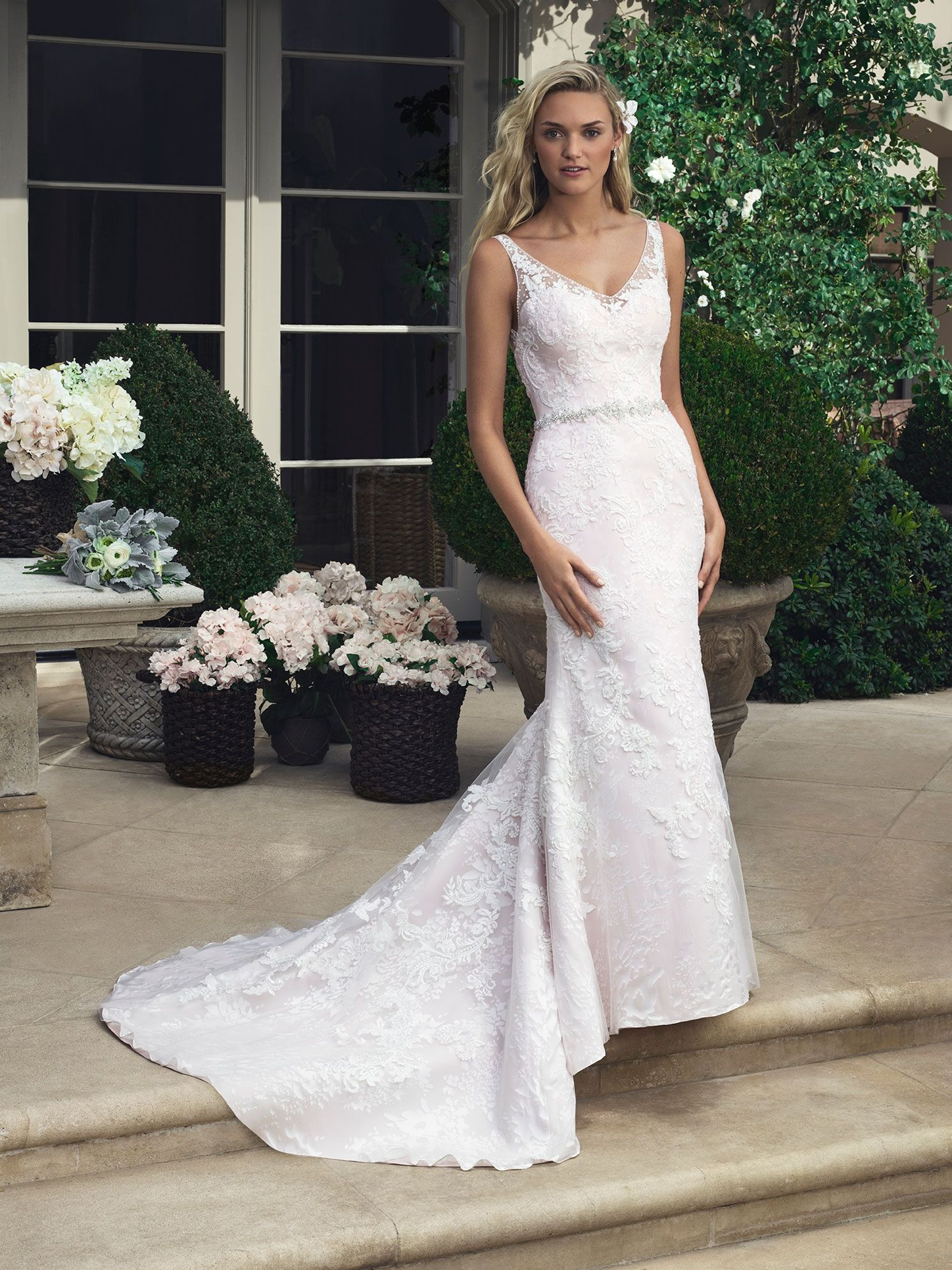 Casablanca Bridal 2204 Ivory/Ivory/Silver Size 12 299