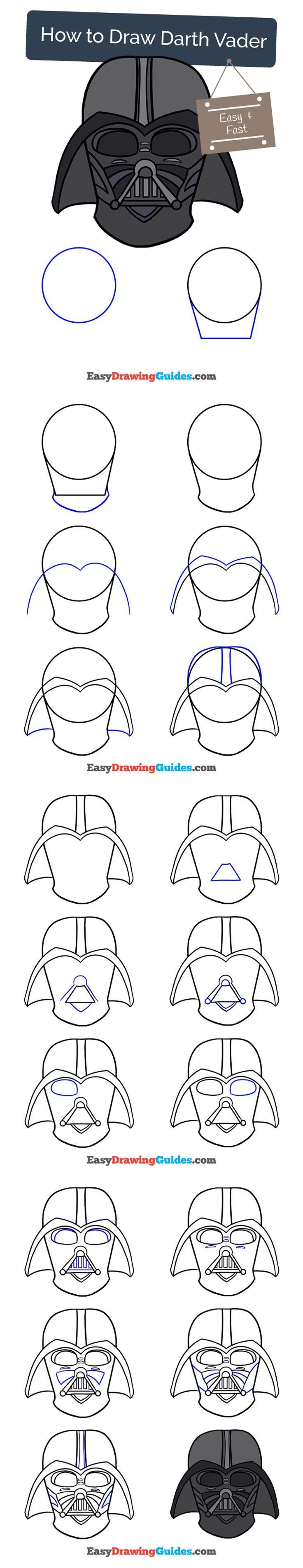 How To Draw Darth Vader In A Few Easy Steps Ideas How To Draw