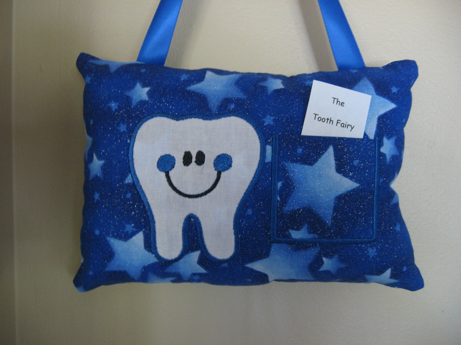 4033213bf07e52 Happy Tooth TOOTH FAIRY PILLOW light stars. 🔎zoom Tooth Pillow