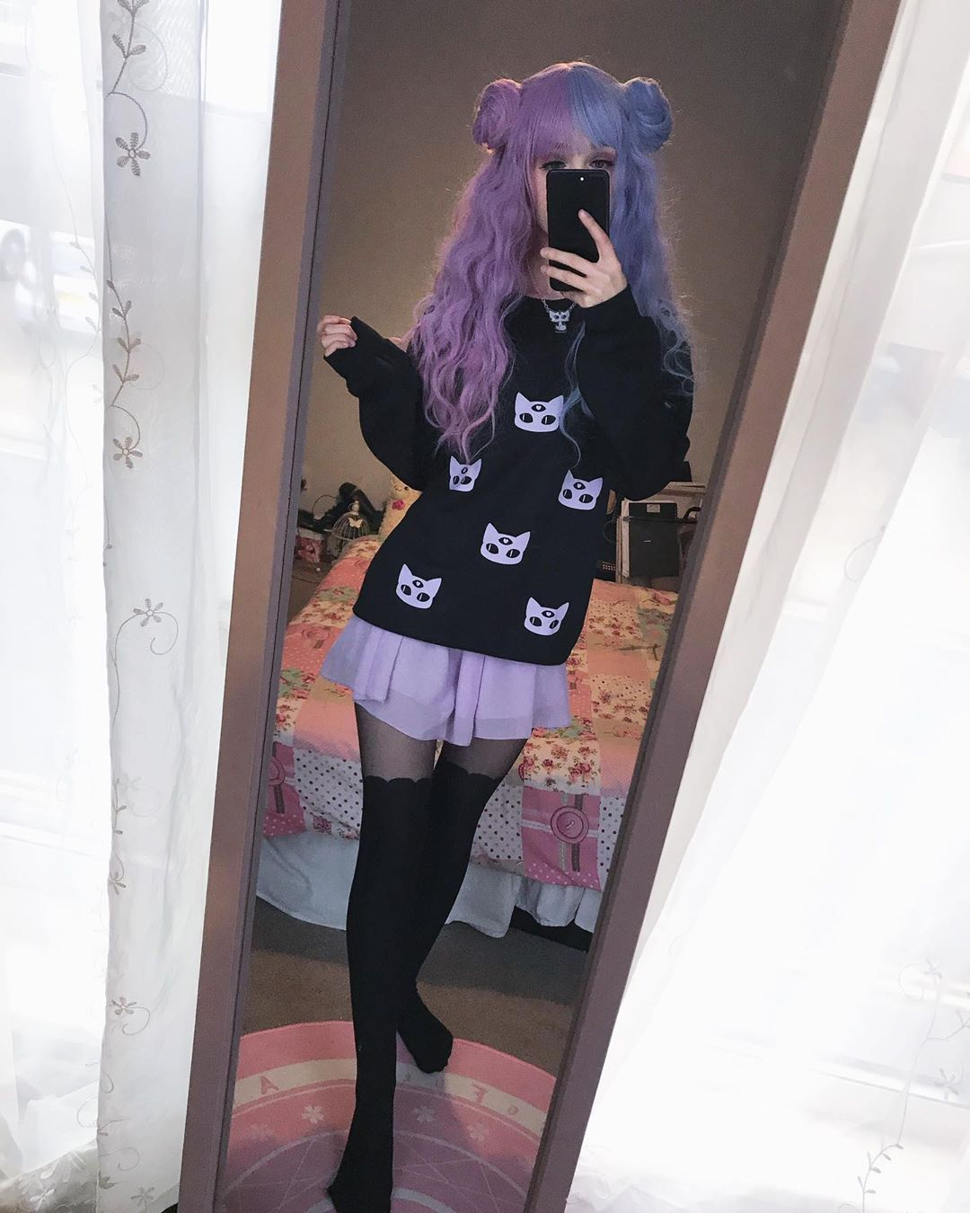 Pastel Goth Girl Kawaii Soft Grunge Sweater Aesthetic Creepy Cute Fashion Creepy Cute Fashion Pastel Goth Fashion Cute Fashion How to wear ideas for ring buckle detail pu and studded soft goth~. pastel goth girl kawaii soft grunge