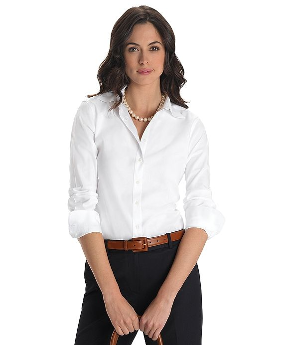 635e135f012 Non-Iron Classic Fit Dress ShirtWhite - perfect work top by Brooks Brothers