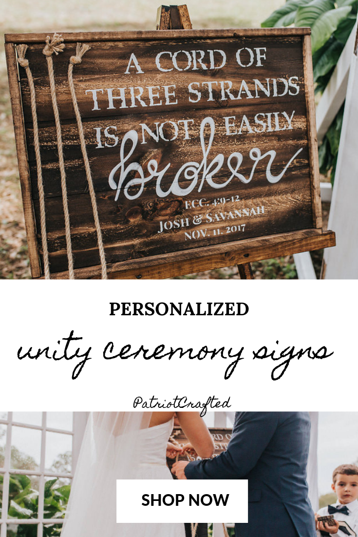 Looking For Unity Ceremony Ideas For Your Rustic Wedding Then You Need Our Rustic Unity Ceremony Braid Sign Wedding Ceremony Unity Unity Ideas Unity Ceremony