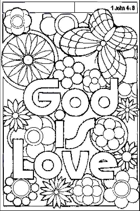 1 John 4 8 Coloring Page Love Coloring Pages Coloring Pages