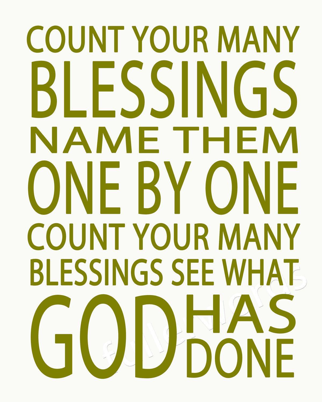 Count Your Blessings Hymn Lyrics