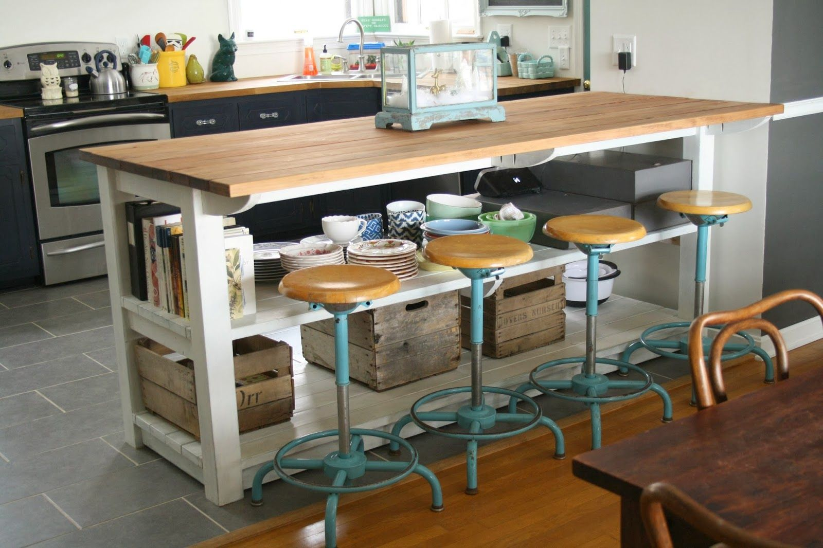 My Industrial Look Kitchen Island (and that time I messed up | APT ...
