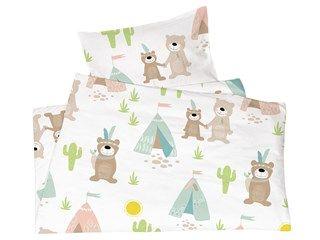 Kinderbettwäsche Bio Baumwolle Jersey Indianerbären Von Made By Hans