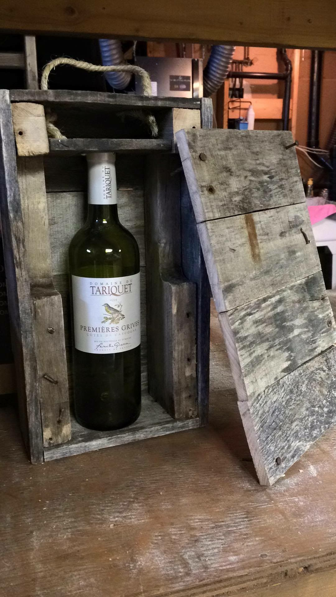 Wine Box Made Of Pallet Wood