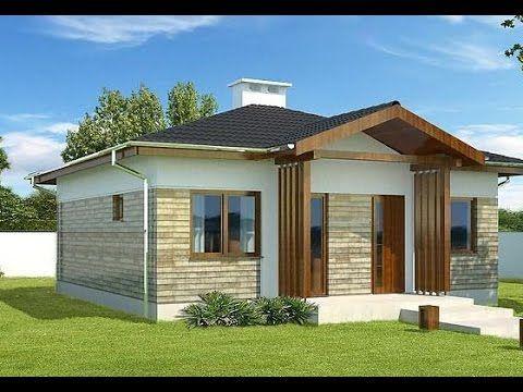 Fachadas de casas sencillas y bonitas youtube 5657 - Modelos de casas de un piso bonitas ...
