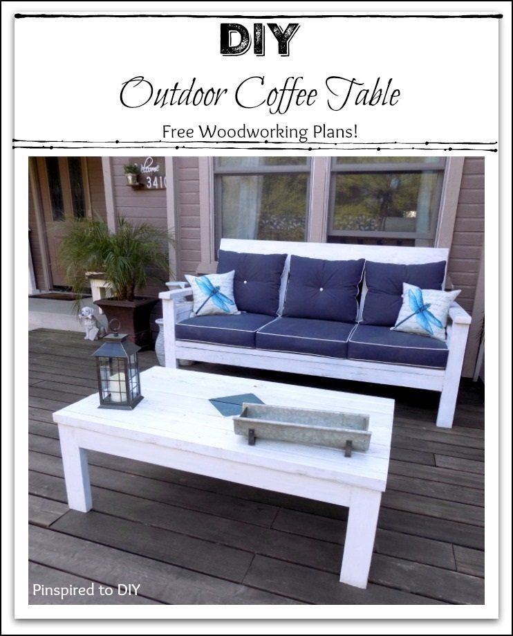 Diy Outdoor Coffee Table Free Woodworking Plans Outdoor Decor