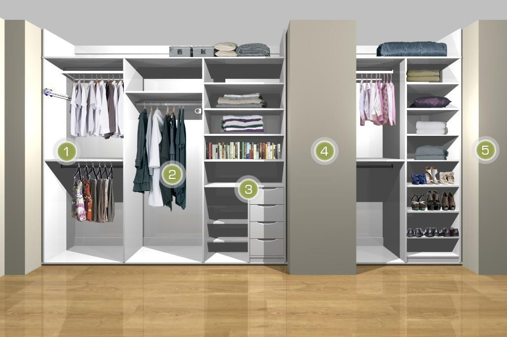 Sliderobes Bedroom Storage Solution For Double Alcove Storage