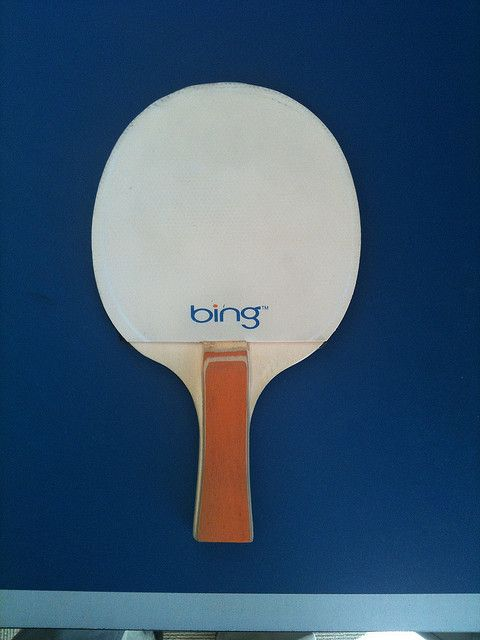 bing bong a ping pong table and paddle i found while wonde any