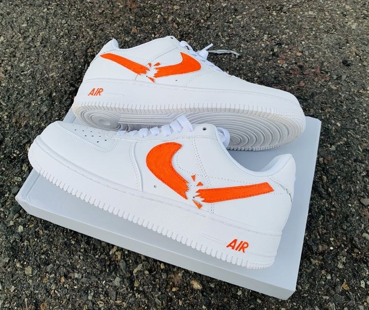 Shattered Swoosh Air Force 1 | Nike shoes air force, Hype