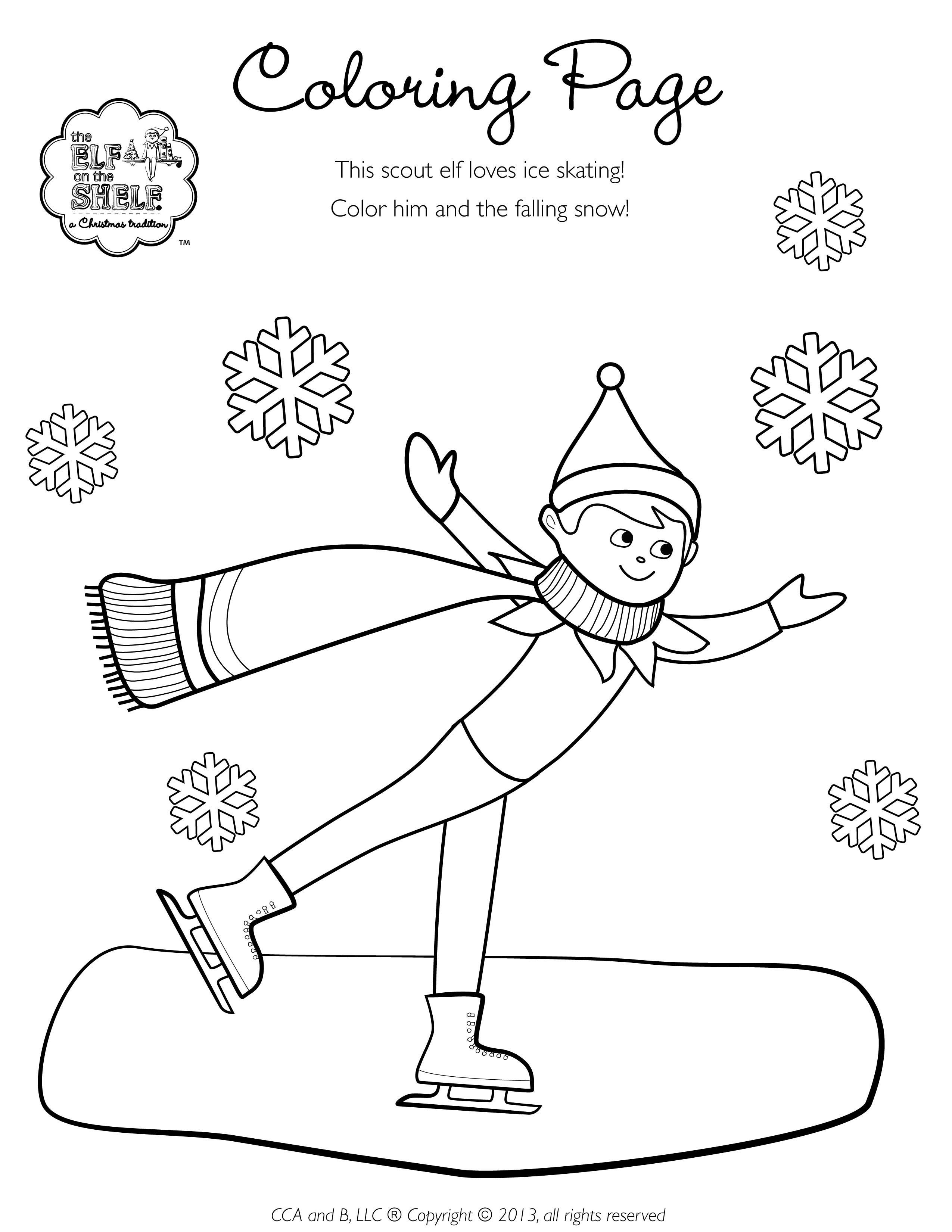 The North Pole Has Been Hit With A Blizzard To Stay Warm And Avoid The Blustery Winds And Snow The Scout Elves Have Been Busy Eati Coloring Pages Elf The Elf