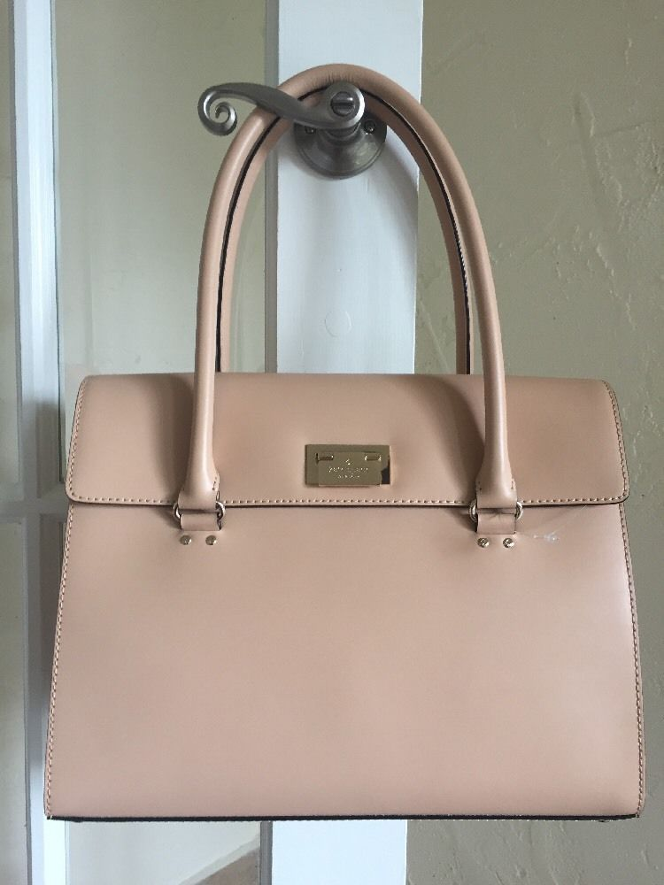 Kate Spade Harwood Place Sinclair Natural Wkru2641 Leather Shoulder Bag Ebay Bags