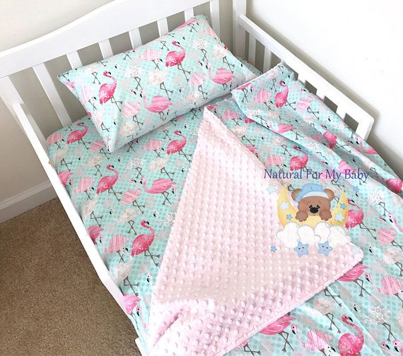 Toddler Girl Bedding Set Flamingo Toddler Bedding Blanket
