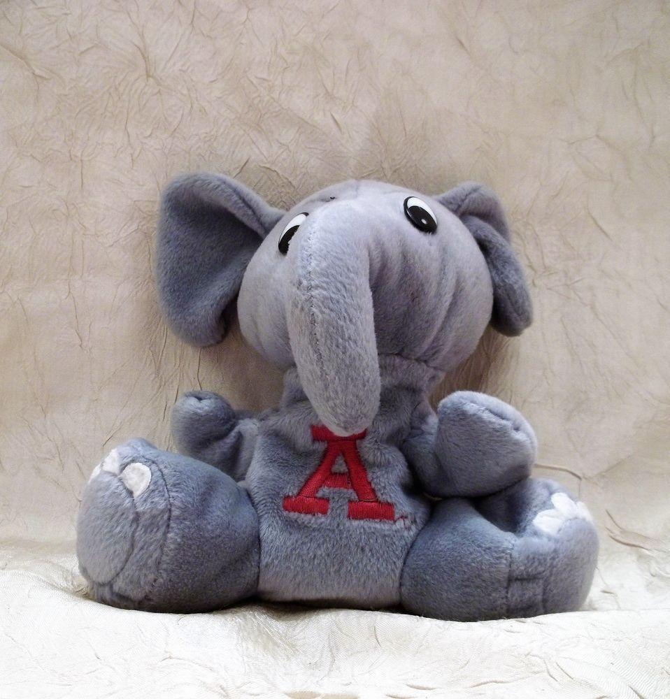 University Of Alabama Bean Bag Elephant Plush Toy Shoney S Roll