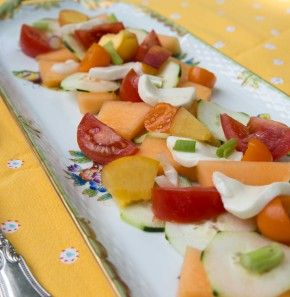 Tennessee Ag Salad–Vegetables and Fruits on a Summer Platter