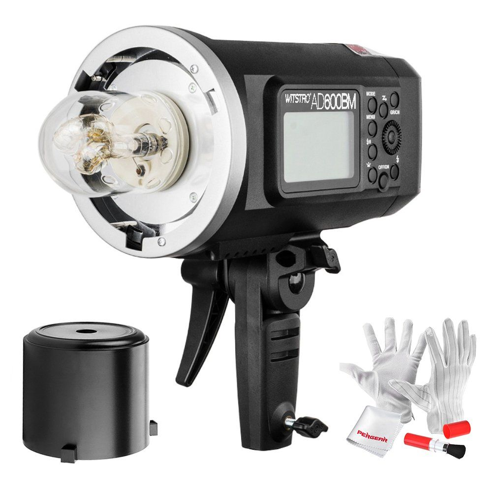 8700mAh Battery to Provide 500 Full Power Flashes and Recycle in 0.01-2.5 Second Godox AD600BM Bowens Mount 600Ws GN87 High Speed Sync Outdoor Flash Strobe Light with 80CMX80CM Softbox