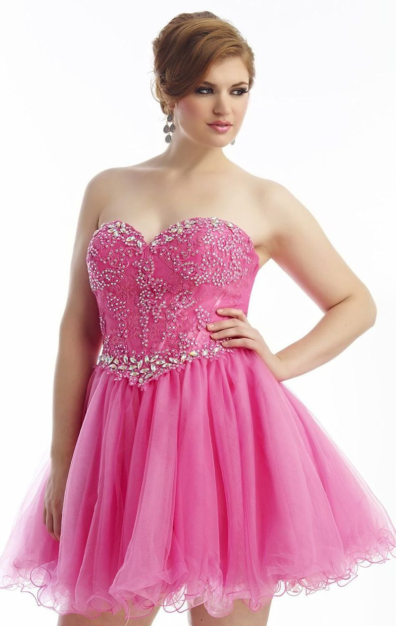 Cheap a line hot pinkblack tulle appliques beaded plus size