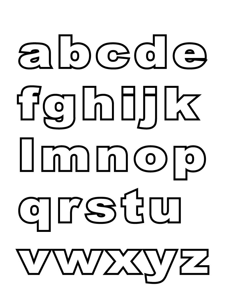 Learning Alphabet Printables for Kindergarten   Small alphabet ...