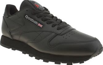 Reebok Black Classic Leather Mens Trainers The Reebok Classic Leather is a wardrobe essential that never goes out of style. Arriving in all-black leather this iconic design features an EVA midsole for extra cushioning and a durable lightweight http://www.comparestoreprices.co.uk/january-2017-8/reebok-black-classic-leather-mens-trainers.asp