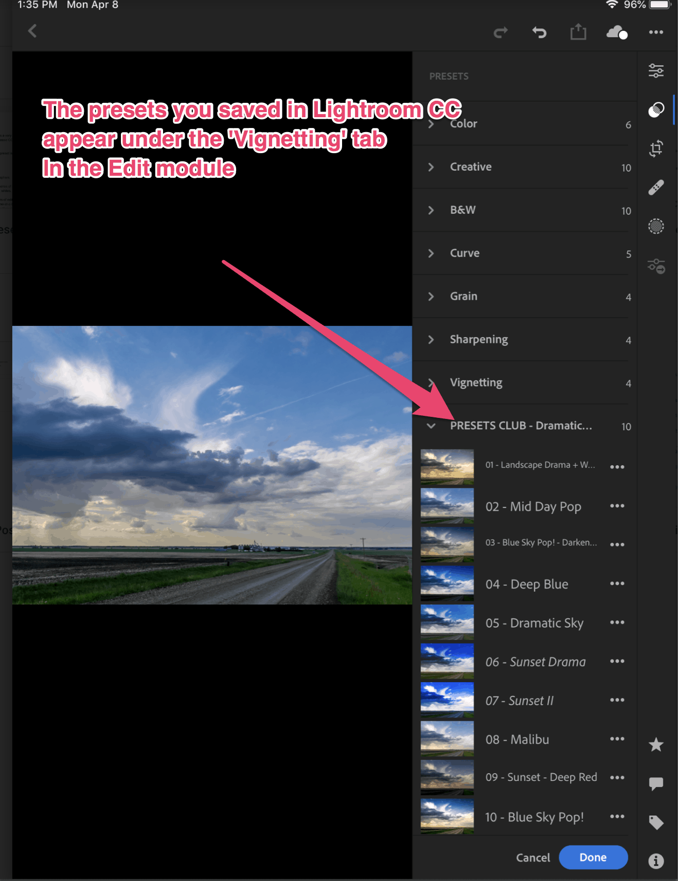 How to import presets to lightroom