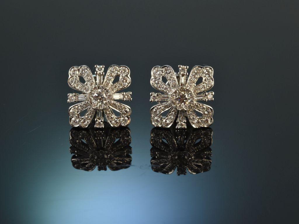 Elegantes Glitzern! Feine Ohrringe 1,04 Carat Brillanten Weiß Gold 75, 1.558,69 €