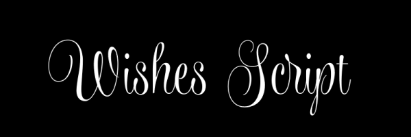 Wishes Script Fonts