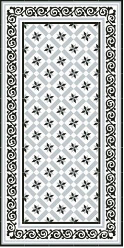 1900 Calvet Carrelage Aspect Carreaux De Ciment Motif Etoile San