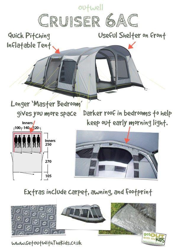 Outwell Cruiser 6AC Tent  sc 1 st  Pinterest & Outwell Cruiser 6AC Tent | Camping | Pinterest | Tents