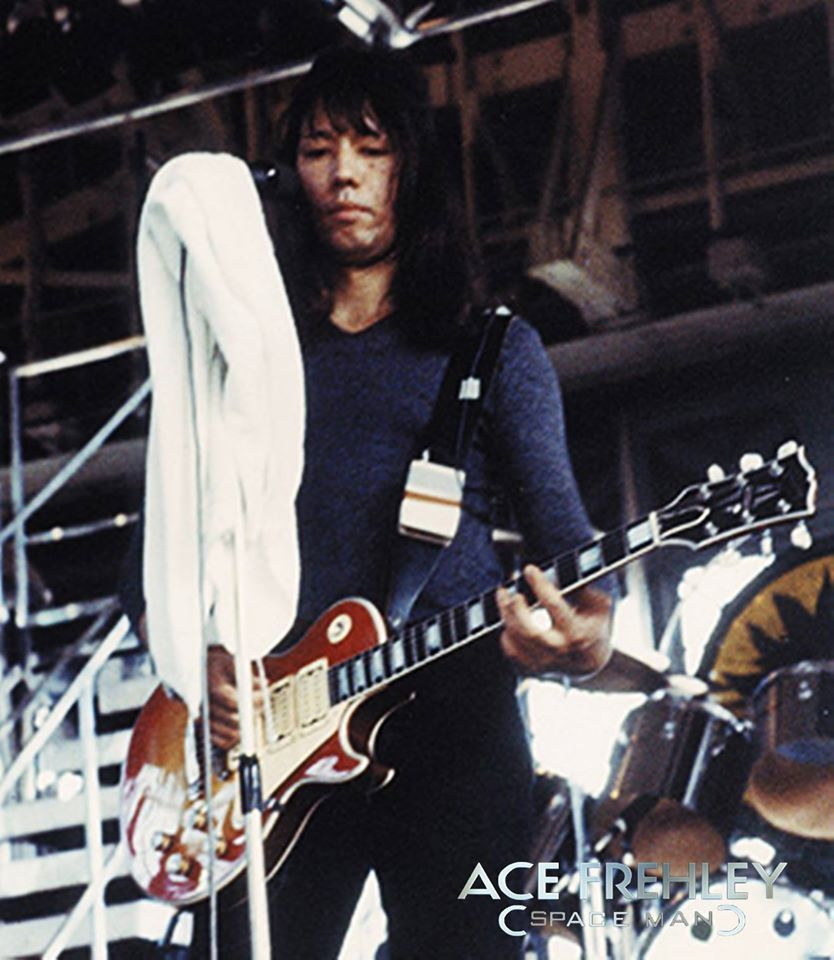 Soundcheck 1977 Ace Frehley Vintage Kiss Kiss Rock Bands