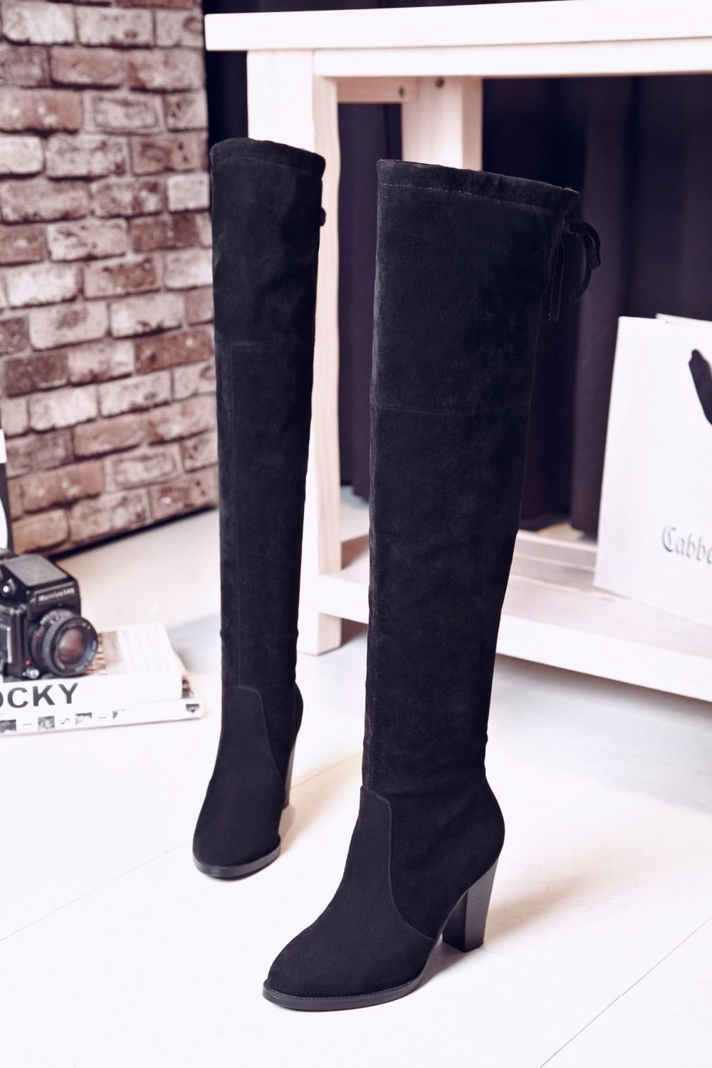 Find More Women's Boots Information about High Quality Genuine Suede  Leather… | Women's over the knee boots, Leather over the knee boots, Over  the knee boots