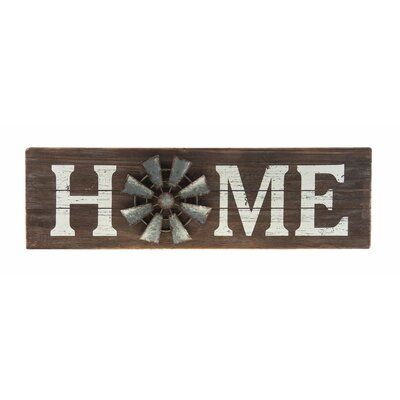 August Grove® Home Windmill Wall Décor | Wayfair