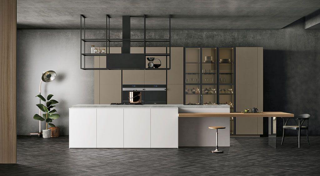 È una cucina componibile moderna, personalizzabile per ...