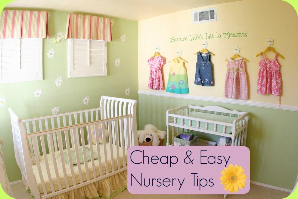 Baby nursery decorating ideas on a budget thenurseries - Simple baby room decorating ideas ...