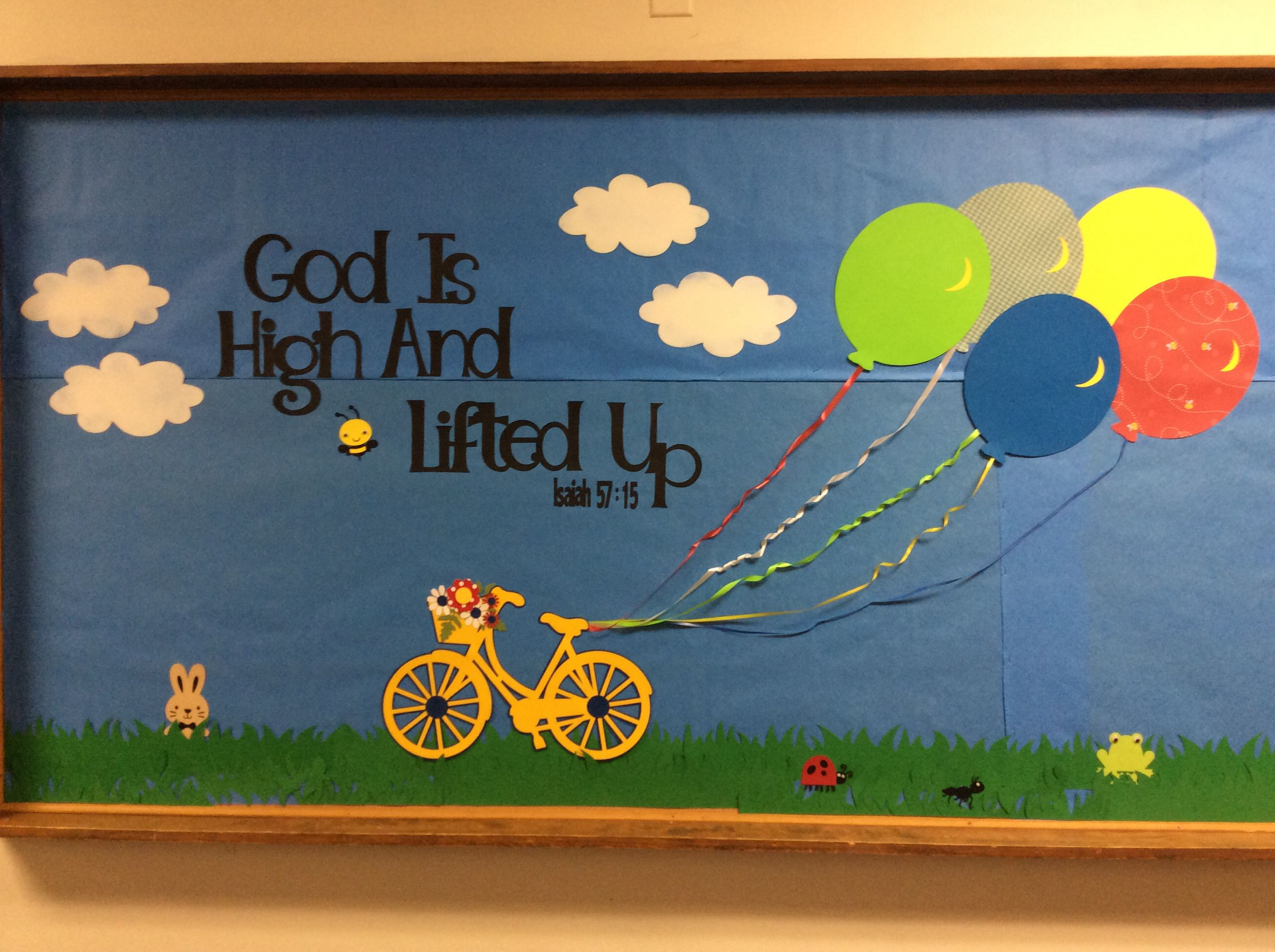 A Summertime Church Bulletin Board Isaiah 57 15 Video Games For Kids Meals Boards
