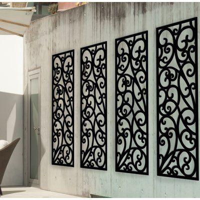 Fleur De Lis Living Panel Plastic Wall Decor Wrought Iron Wall