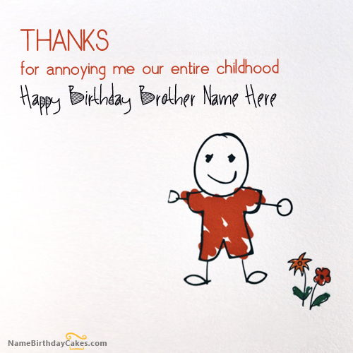 Write Name On Birthday Cards For Brother Birthday Wishes