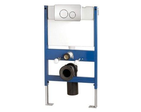 Small Wall Hung Toilet Mounting Frame Incl Dual Flush Button Wall Hung Toilet Concealed Cistern Small Wall