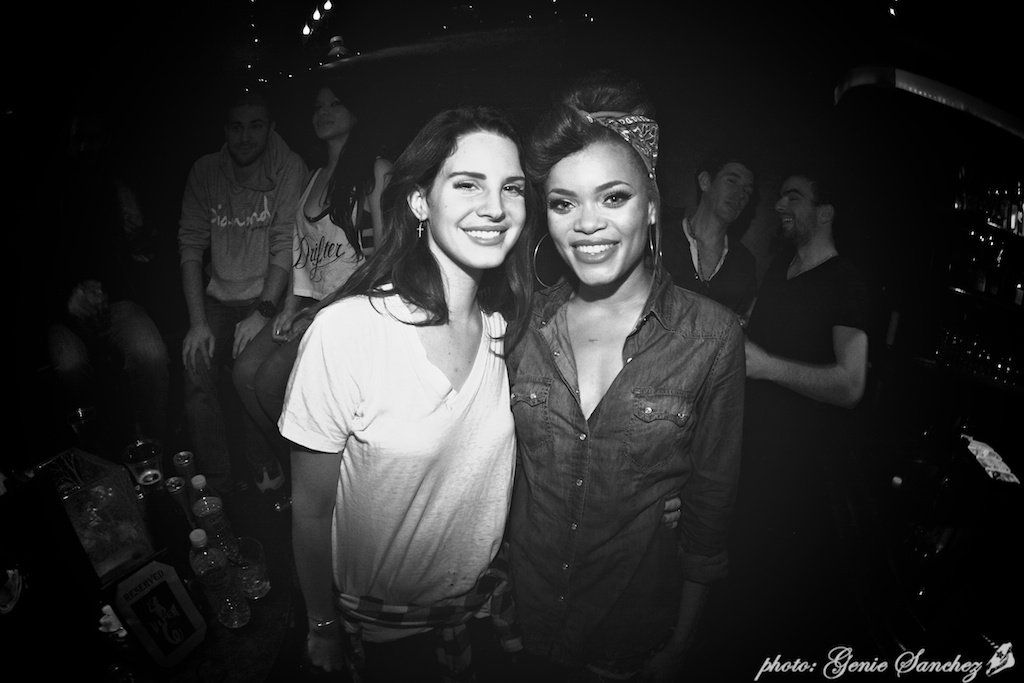 Lana and Andra Day in 'The Viper Room', West Hollywood, CA (Oct. 9, 2012)