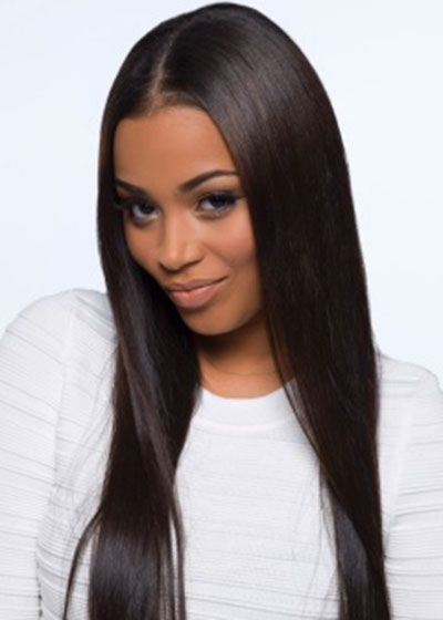 Lauren London Love The Sleek Straight Hair And The Middle Part