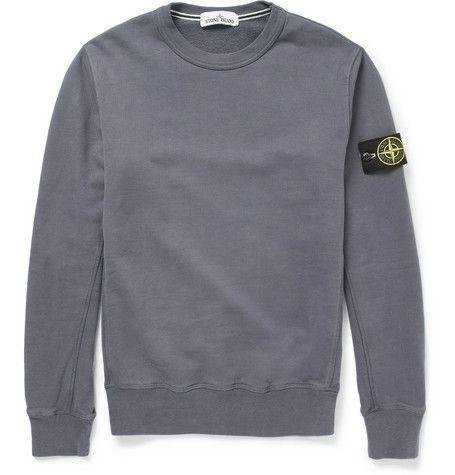 Stone Island Fleece Back Cotton Jersey Sweater Mr Porter Stone Island Clothing Stone Island Sweatshirt Stone Island Hooligan