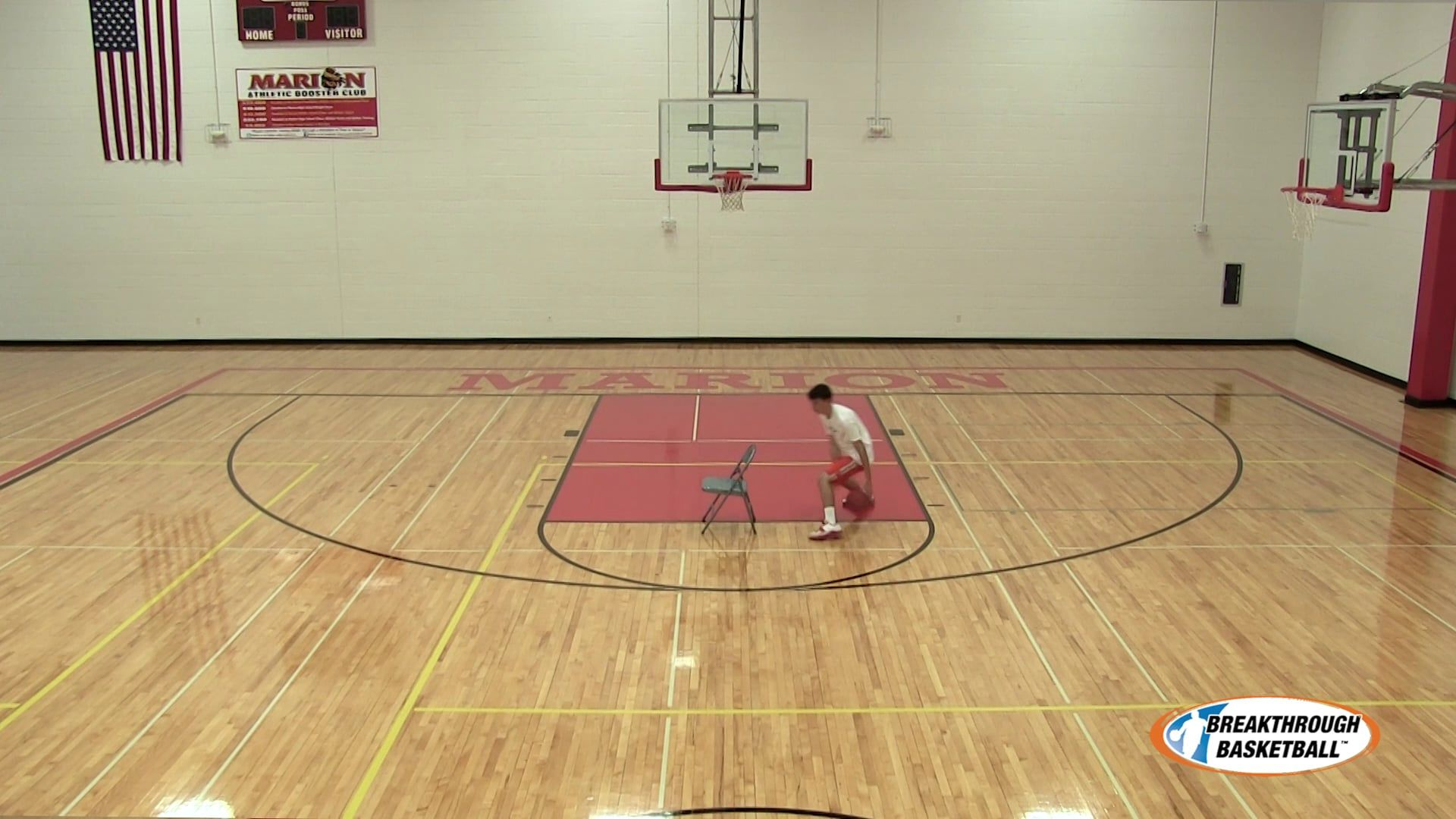 Dribble Moves At Chair Cross, Through Legs (Left