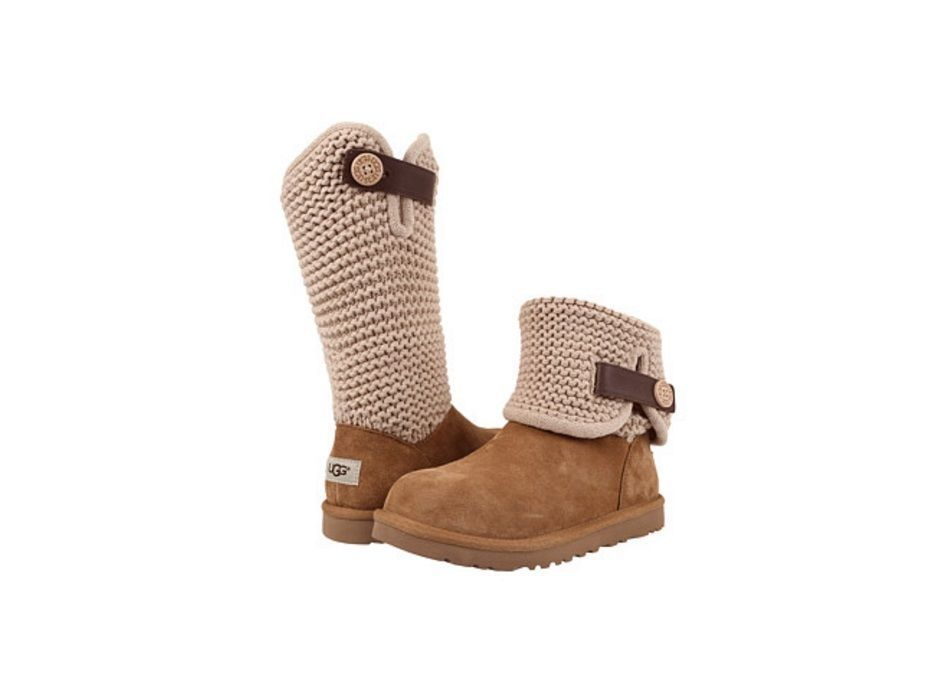 6a4f1b2ab9b UGG Australia Women's Shaina Suede and Knit 1012534 in Chestnut Sz 6 ...