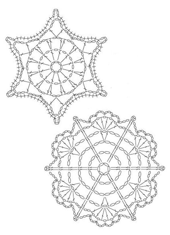 Flocon 015 | Häkeln, Sterne, Schneeflocken häkeln | Pinterest ...