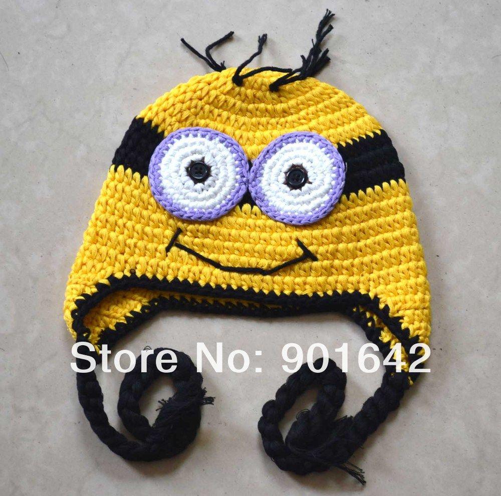 Men\'s Crochet Earflap Hat Pattern | -Hat-Yellow-Minion-Hat-crochet ...